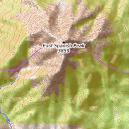 East Spanish Peak Weather Forecast 3866m