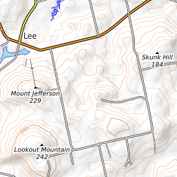 Jefferson Maine Map.Mount Jefferson Maine Mountain Information